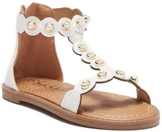Nicole Miller Embellished T-Strap Sandal (Toddler)