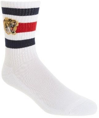 Men's Gucci Tiger Patch Socks $95 thestylecure.com