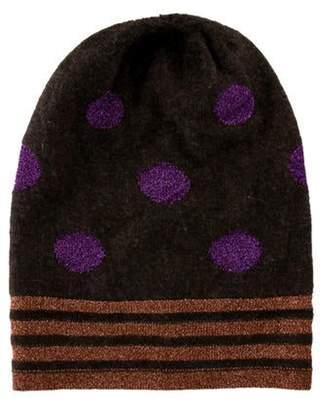 Armand Diradourian Cashmere Knit Beanie w/ Tags Brown Cashmere Knit Beanie w/ Tags