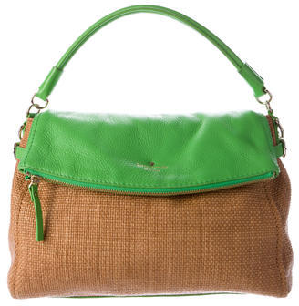Kate Spade New York Cobble Hill Straw Small Leslie Bag $125 thestylecure.com