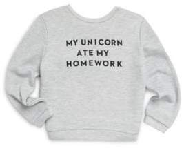 Milly Minis Toddler's, Little Girl's& Girl's Unicorn Sweatshirt