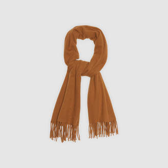 Sandro Plain scarf with fringing