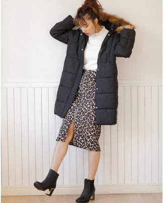INGNI (イング) - INGNI レオパード柄ジップナロースカート