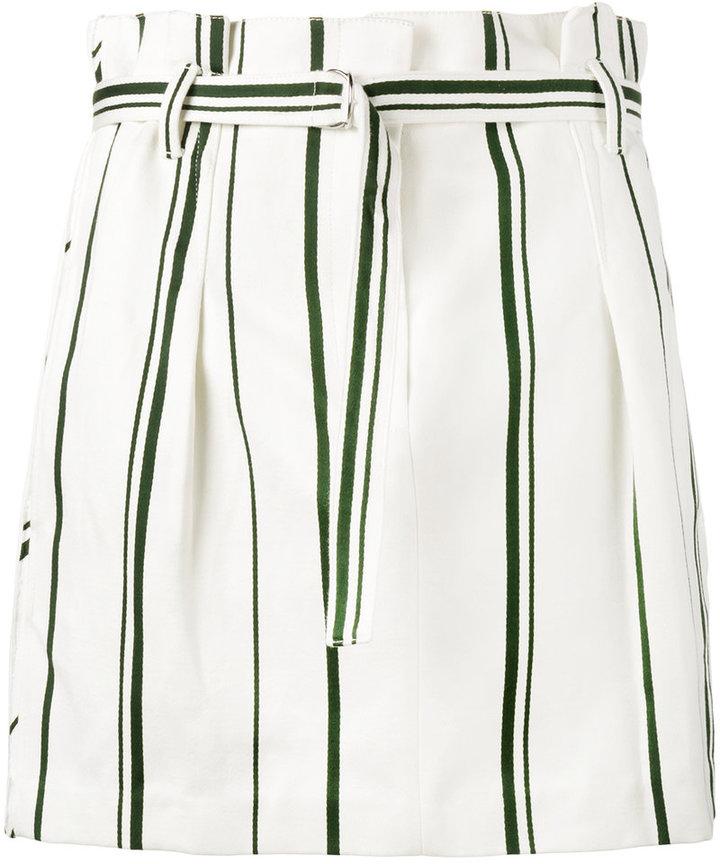 3.1 Phillip Lim3.1 Phillip Lim stripe pleated mini skirt