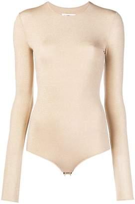 Maison Margiela long sleeved lurex body