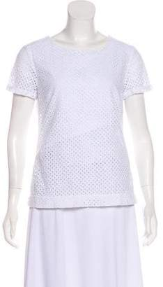 Brooks Brothers Short Sleeve Eyelet Top