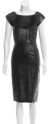 GucciGucci Leather Midi Dress w/ Tags