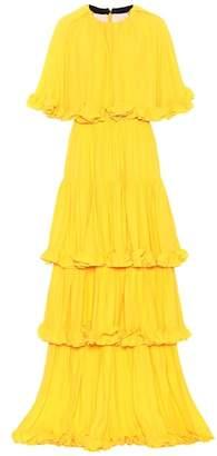 Ruffled crêpe gown