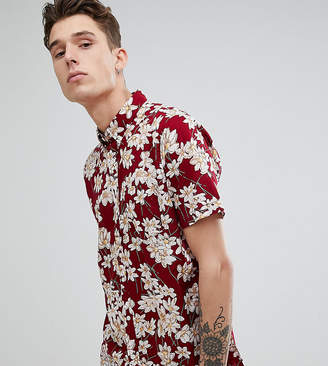Jacamo Tall Short Sleeve Shirt In Floral Print