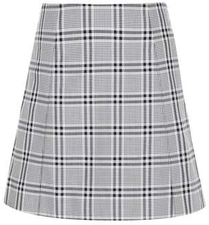 Wood Wood Stella check cotton miniskirt