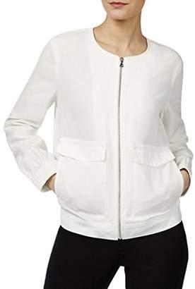 Anne Klein Women's Two Pocket Zip up Jacket