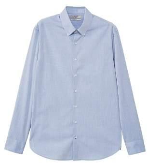 MANGO Slim-fit end-on-end cotton shirt