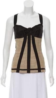Dolce & Gabbana Sleeveless Paneled Corset Top