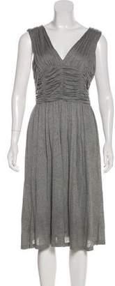 Burberry Pleated Midi Dress