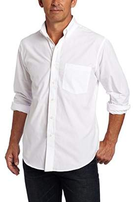 Izod Men's Essential Solid Long Sleeve Shirt (Regular and Slim Fit)
