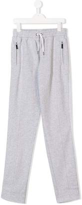 Karl Lagerfeld TEEN contrasting side strap track trousers