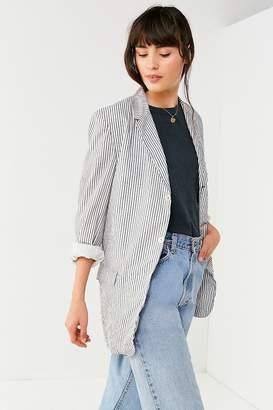 Urban Renewal Vintage Seersucker Striped Blazer