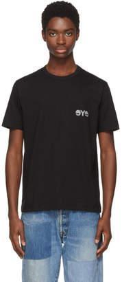 Junya Watanabe Black and Grey Logo T-Shirt