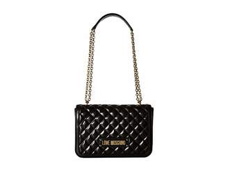 094743857c951 Love Moschino Shinny Quilted Handbag with Chain Strap