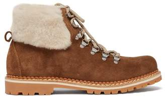 Montelliana - Camelia Shearling Lined Suede Boots - Womens - Tan