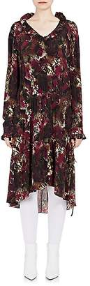 Balenciaga WOMEN'S ABSTRACT-PRINT SILK DROP-WAIST DRESS