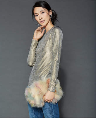 The Fur Vault Chain-Strap Fox Fur Handbag