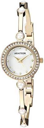 Swarovski Armitron Women's 75/5591MPGP Crystal Accented -Tone Bangle Watch