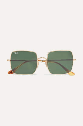 Ray-Ban Square-frame Gold-tone Sunglasses - one size