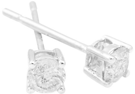 Diamond 3/4 CT. T.W. Solitaire Stud Earrings in 10K - White Gold