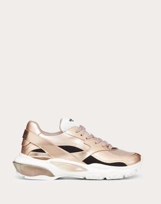 Valentino Garavani Vltn Metallic Low-top Bounce Sneaker Women Gold Lambskin 100% 35