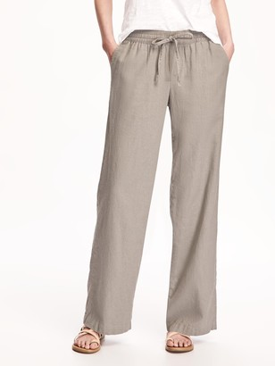 how to purchase outlet store sale search for newest Low Rise Linen Pants - ShopStyle