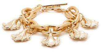 Charm & Chain Vanda Jacintho - Flower Charm Chain Bracelet - Womens - Gold