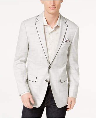 Tallia Orange Men's Slim-Fit Stretch White Textured Sport Coat