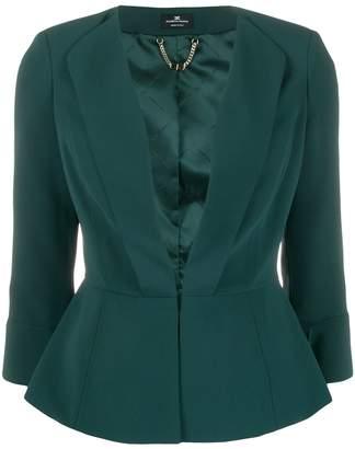 Elisabetta Franchi cinched waist peplum blazer