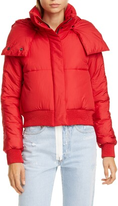 Off-White Crop Puffer Jacket
