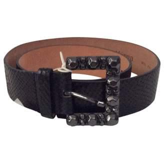 John Galliano Black Leather Belts
