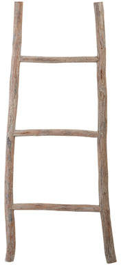 August Grove Wood White Washed 3.5 ft Decorative Ladder