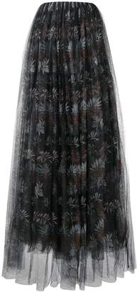 Brunello Cucinelli floral tulle maxi skirt