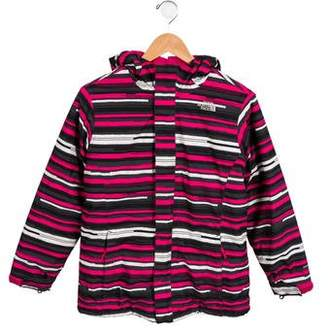 The North Face Girls' Printed Zip-Up Coat