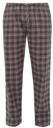 Zimmerli Light Magic Tartan Cotton Pyjama Trousers - Mens - Grey