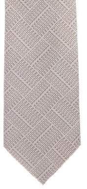 Louis Vuitton Logo Print Silk Tie