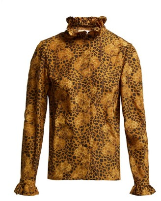 Borgo de Nor Veronica Leopard Print Blouse - Womens - Leopard