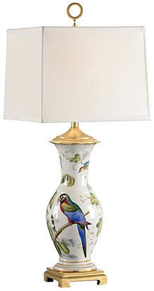 Chelsea House Chelsea Bird Porcelain Lamp - White