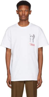 Toga Virilis White Logo Print T-Shirt