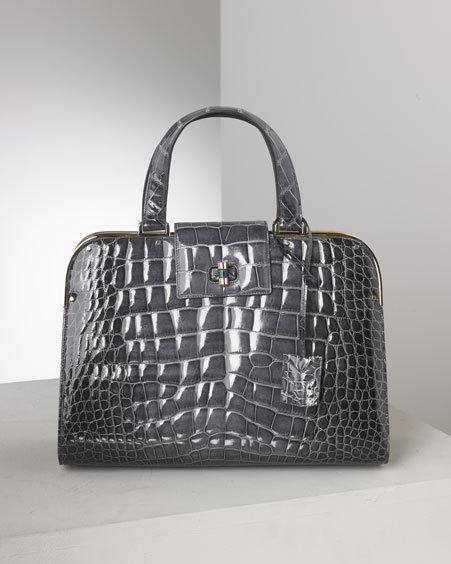 Yves Saint Laurent Crocodile Uptown Bag