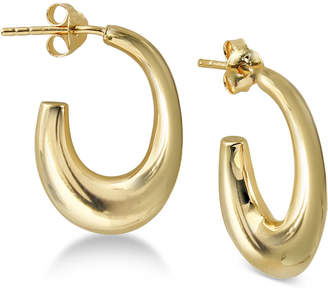 e6d071133 Argentovivo Chunky Hoop Earrings in Gold-Plated Sterling Silver