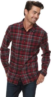 Apt. 9 Men's Brushed Flannel Button-Down Shirt