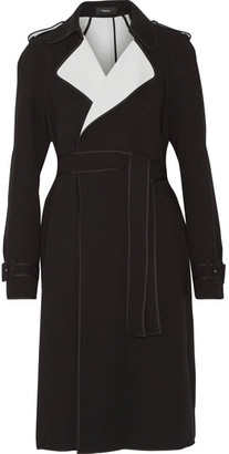 Theory - Laurelwood Crepe Trench Coat - Black $655 thestylecure.com