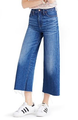 Women's Madewell High Rise Crop Wide Leg Jeans $128 thestylecure.com