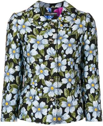 Dolce & Gabbana floral fitted jacket